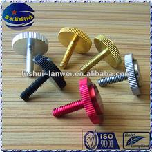Precision custom racket type screw thumb screws fastener thumb screw
