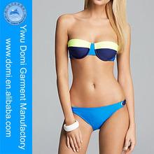 Splendid color block bandeau bikini hot sex open photos swimsuit / www sexy girl com