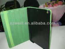 2014 hot sell fashionable green alligator pattern case for ipad mini