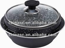 Aluminum stone stock pot kadhai
