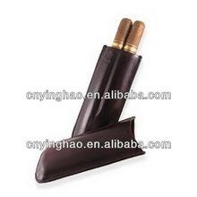 Designer branded popular leather cigar case 3 fingers
