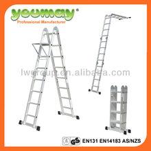 EN131 aluminum multi-times fold ladder/step ladder/perfect steps shoes/aluminim scaffold (AM0108A,AM0112A,AM0116A)