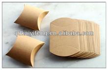 Folding paper box brown kraft paper pillow boxes