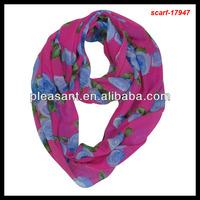 lady fashion big flower scarf/neckerchief