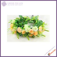 2014 hot style artificial flower wreath wedding flower head wreath flowerwedding flower centerpiece