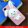 Melody rabbit kt cat silicone case for iphone4/4s iphone5 soft silicone shell phone case