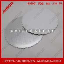 custom cut silver foil cake circles