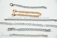14K gold plated chain extension with lobster clasp