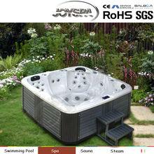 Fashion comfortable acrylic spa tub rectangular corner spa tub personal massager
