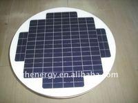 10wp 12v round solar panel monocrystalline solar module