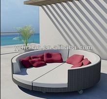 Hot sale Creative rattan outdoor/garden furniture sun loungers
