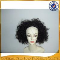 Qingdao factory price short afro kinky human hair wig for black women