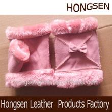 HS2094 leather gloves cut finger