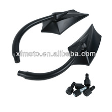 Black Motorcycle Oblique Spear Rear Mirrors for Honda Shadow/Rebel/VTX 1300 1800