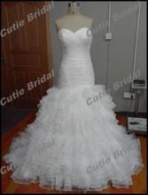 Alibaba Sweetheart Mermaid Wedding Dresses China Court Train Organza With Ruffles Bridal Gowns