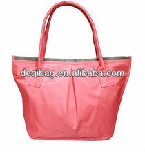 Japan style nylon waterproof candy color beach bag women hand bag hot sale