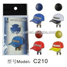 2014 New Design Factory custom golf cap clip C210 /golf ball marker and hat clip supplier