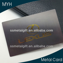 Company brand plated gold black metallic gift card
