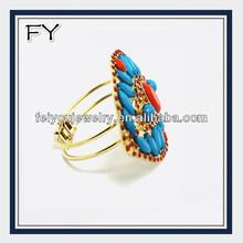 Colored bib plastic beads cuff jewelry bangle,fashion jewelry 2014