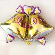 New CY Brand Bell Shape Mylar Balloon For Christmas