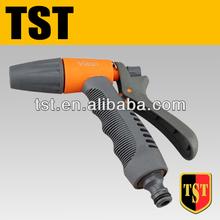 Adjustable plastic garden spray gun with soft handle