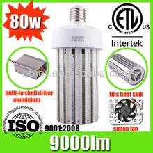 Bbier 3years warranty ETL CE RoHS listed e27 high power LED maize lamps 80w