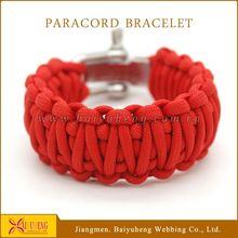 wholesale top quality team logo paracord bracelet