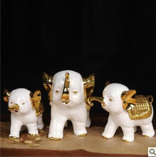 JA212 Happy Family Elephant Sculpture for Home Decorative