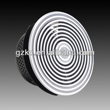 Variable round floor air diffuser