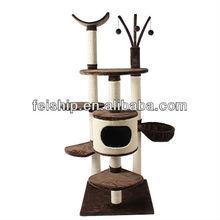 sisal and plush cat scratching furniture