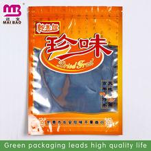Vacuum sealing zip lock plastic food bags with printing personal logo