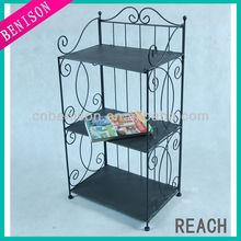 Iron Wire Book Shelf Newspaper Stand Elegent Decoration For Study