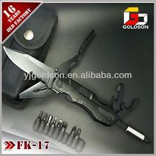 camping multi función táctica cuchillo con mango de aluminio