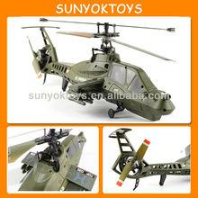 Novo design! Simulação Comanche único Blade Middel 4CH RC Helicopter com giroscópio