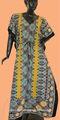 Hola européenne caftans robe de soirée et robes de nuit coton imprimé