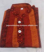 Mens Cotton Kurtas / Indian Occasion Wear Cotton Kurtas From Jaipur India