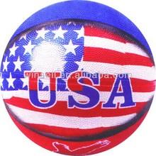 Best bottom price multi-color rubber basketball hot sale