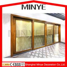 INTERIOR DOOR LX02 ALUMINUM SLIDING DOOR ALUMINUM DOOR DOUBLE GLAZING DOUBLE TEMPERED GLASS CHINA SUPPLIER SHANGHAI FACTORY