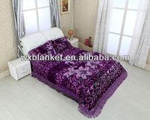4PCS Set Blanket&Bedcover--Design NF093 Purple color