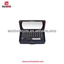 12-120-08 32pcs plastic box pack security screwdriver bit set