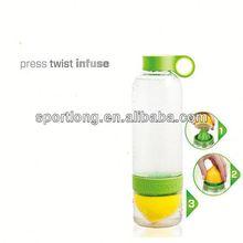2014 hot selling lemon 400ml aluminium water bottle in Korea