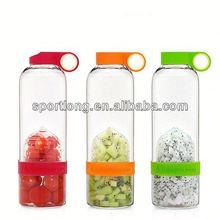 2014 hot selling lemon plastic filtered sports water bottle in Korea