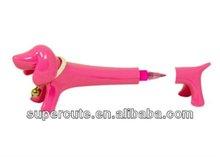 11cm Refillable Ball Point Standing Dog gift pen