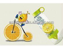 2014 hot selling lemon bowling water bottle in Korea