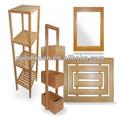2014 venta caliente personalizado de alta calidad de bambú para el cuarto de baño accesorios