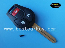 Topbest high quality nissan elgrand 2+1 buttons remote key shell for nissan elgrand car key case