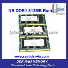 FCC CE RoHS tested ddr 512mb ram memory bulk used laptops