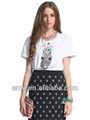 2014 atacado novo modelo t-shirt para as mulheres