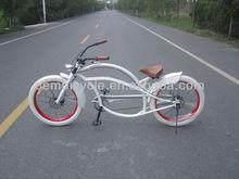 white color fashion design chopper bike