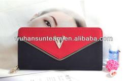 wholesale large envelope ladies wallet silver double clutch ladies wallet